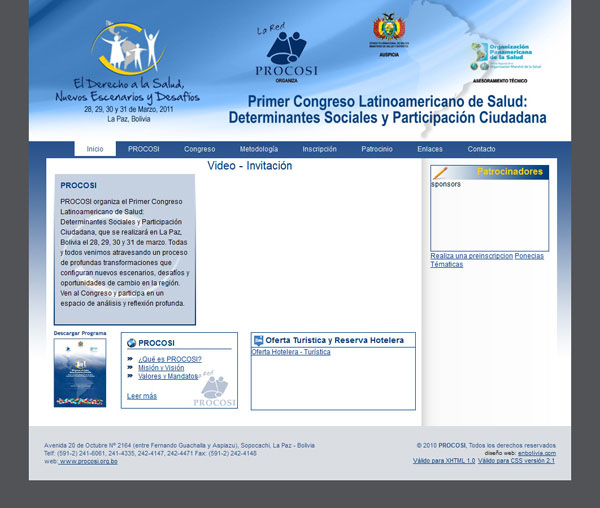 Primer congreso Latinoamericano de Salud y Participacion Social.