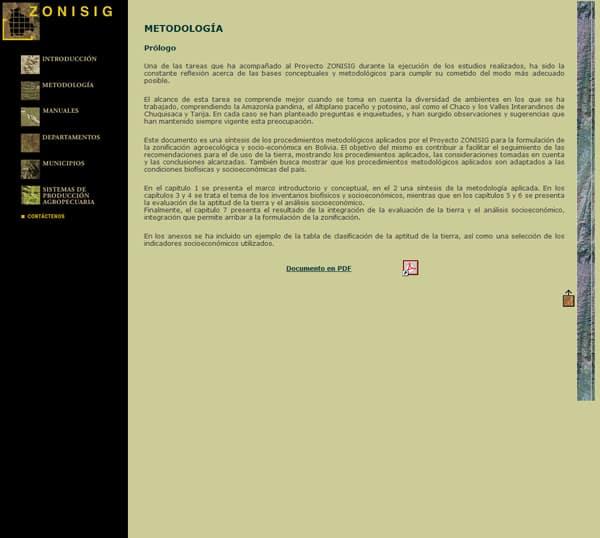 Proyecto Zonisig